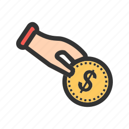 donation, financial, fund, invest, money, shop icon