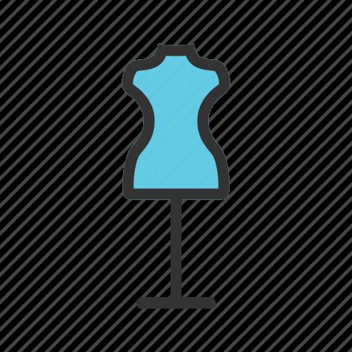 boutique, clothes, dressmaker, fashion, mannequin, tailor icon
