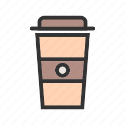 brown, caffeine, cappuccino, coffee, cup, dark, drink icon