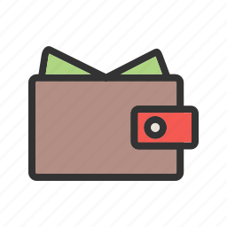 cards, cash holder, money, moneybag, purse, wallet icon