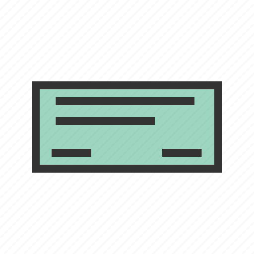 bank, cash, cheque, draft, pay, payment, receipt icon