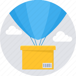 air balloon, delivery, logistic, shipping, transport icon