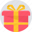 gift, parcel, birthday, box, celebration, package, party icon