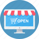 cart, computer, ecommerce, online, shop, shopping, website icon
