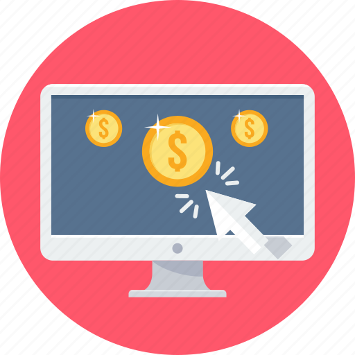 click, pay, pay per click, payment, ppc, seo icon