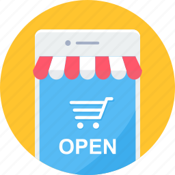 app, apps, mobile, open, shop, shopping, website icon