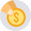 coin, dollar, money, budget, cash, fund, funding icon