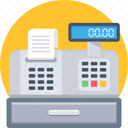 bill, billing, invoice, machine, receipt icon