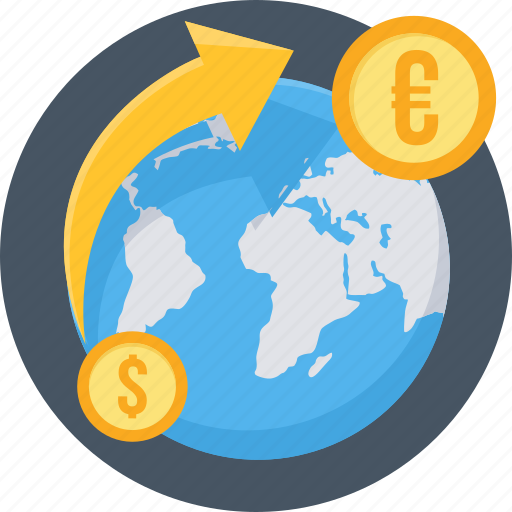 bank, convert, currency, exchange, forex, money, transfer icon
