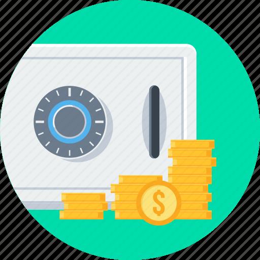 bank, locker, money, money locker, safe, safety icon
