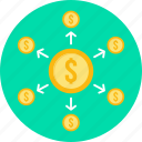 finance, money, banking, dollar, payment, shopping, transaction icon