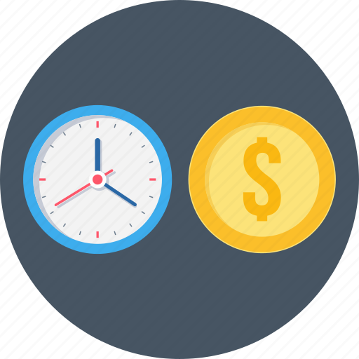 cash, finance, money, time, time is money icon
