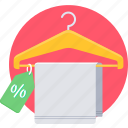 cloth, discount, offer, sale, label, price, tag icon