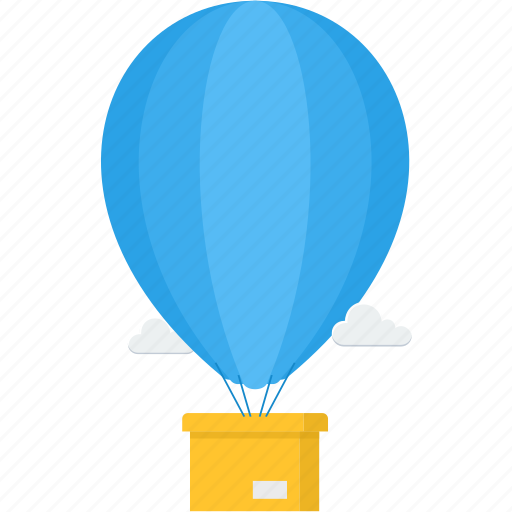 air, balloon, delivery, hotair balloon, party, shipping icon
