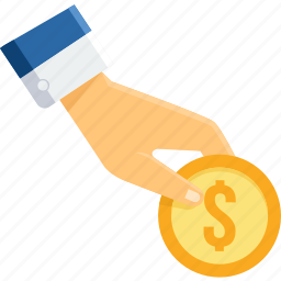 cash, coin, currency, finance, gesture, hand, money icon