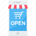 app, ecommerce, internet, mobile, online, shopping, web icon