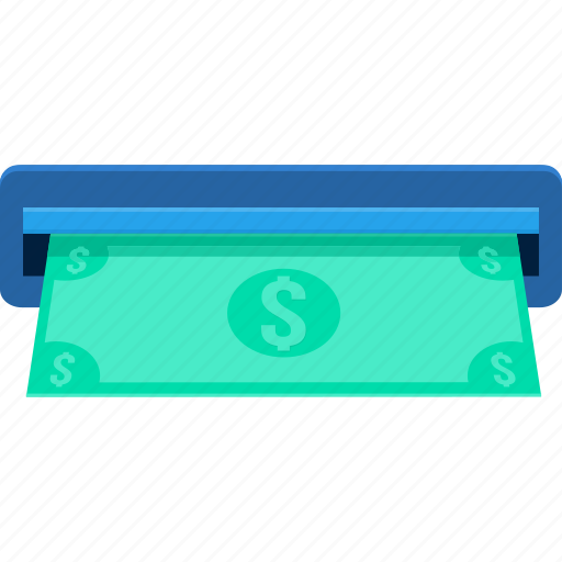 atm, bank, cash, dollar, finance, money, withdraw icon