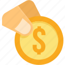 bank, banking, coin, dollar, financial, price, revenue icon
