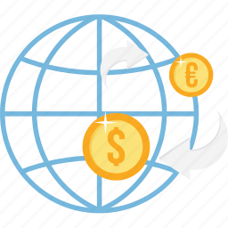 bank, banking, cash, convert, currency, international, money icon
