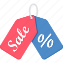 discount, label, offer, percentage, sale, shop, tag icon