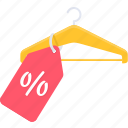 discount, hanger, offer, percentage, price, shop, shopping icon