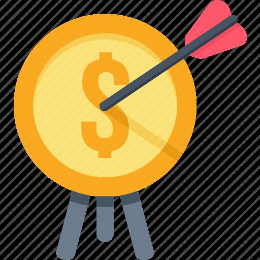 aim, finance, financial, goal, money, revenue, target icon