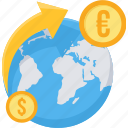 conversion, convert, currency, dollar, euro, international, money icon