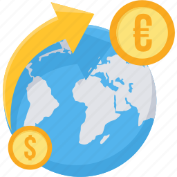conversion, convert, currency, dollar, euro, international, money icon