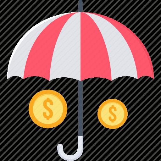 insurance, investment, life insurance, money, plan, retirement, umbrella icon