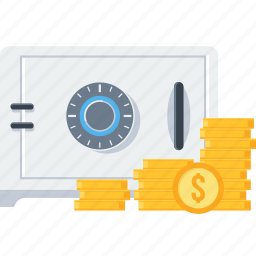 bank, cash, lock, locker, money, safe, safety icon
