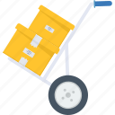 courier, godown, shipping, store, superstore, trolley, warehouse icon