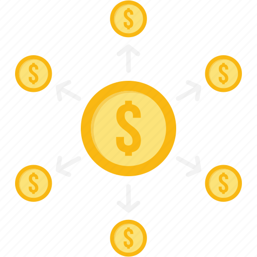 banking, cash, cycle, dollar, financial, money, payment icon