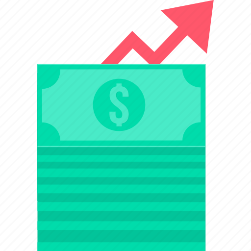 cash, high, increase, money, payment, revenue, up icon