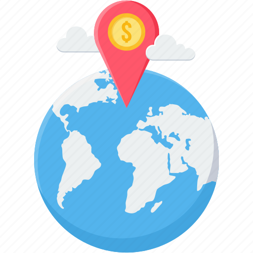 bank location, direction, gps, location, navigation icon