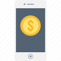 app, bank, dollar, money, online, payment, smartphone icon