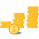 cash, dollar, investment, money, payment, profit, rate icon