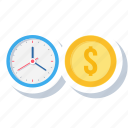 business, finance, financial, money, revenue, target, time icon