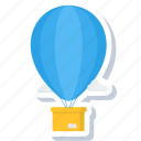 air, air balloon, balloon, hot balloon, logistics, parachute, shipping icon