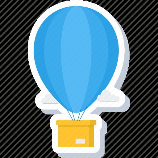 air, air balloon, balloon, hot balloon, logistics, parachute, shipping icon