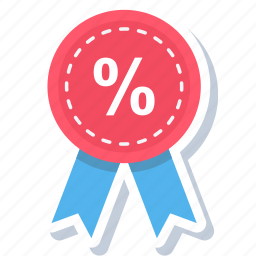 badge, discount, label, offer, percent, percentage, sale icon