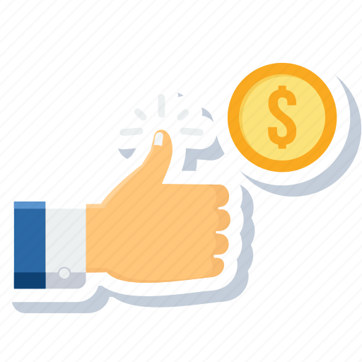 accept, approve, like, revenue, target, target achieve, thumbs up icon
