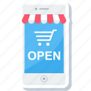 app, apps, cart, mobile, open, shop, shopping icon