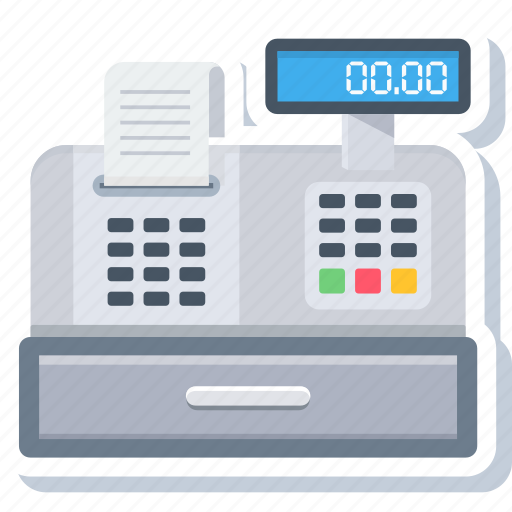 bill, billing machine, invoice, paper, printer, printing, receipt icon
