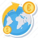 change, coin, convert money, dollar, euro, money, transfer icon