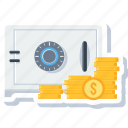 bank, finance, locker, money, protection, safe, security icon