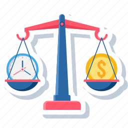 balance, equal, finance, money, scales, time, weight icon