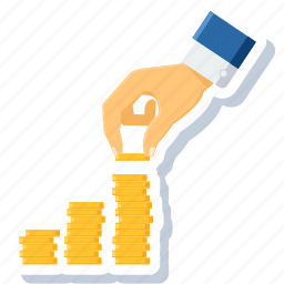 bank, finance, growth, investment, money, payment, profit icon
