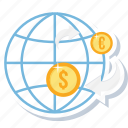 convert money, dollar, money, online, payment, transaction, transfer icon