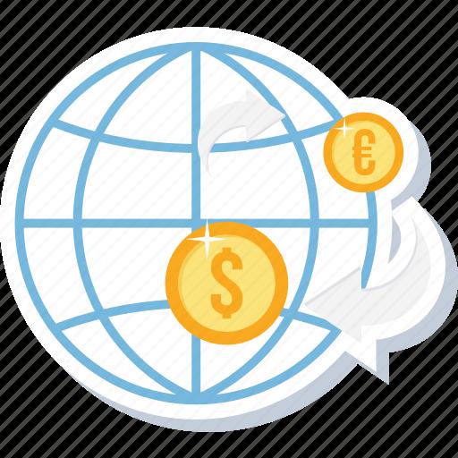 convert money, dollar, money, online, payment, transaction, transfer icon