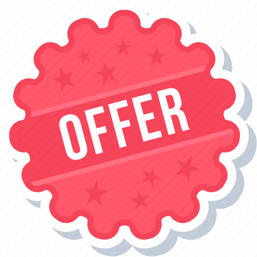 label, offer, sign, sticker icon